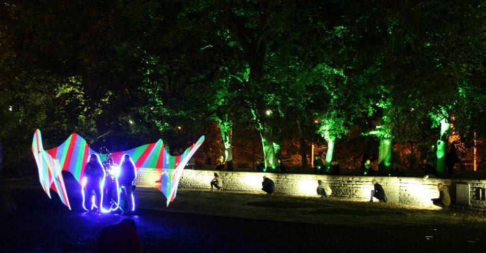 Tallinn Bastion Parks Guerilla Lighting